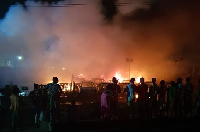 Danger As Pipeline Explodes At Ile Epo In Abule Egba Area Of Lagos 1 194