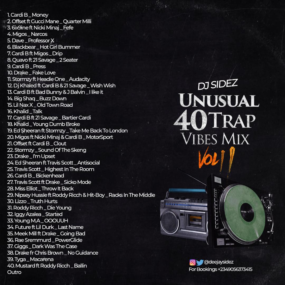 (Mixtape) Dj Sidez_Unusual 40Trap Vibes mix 2 383