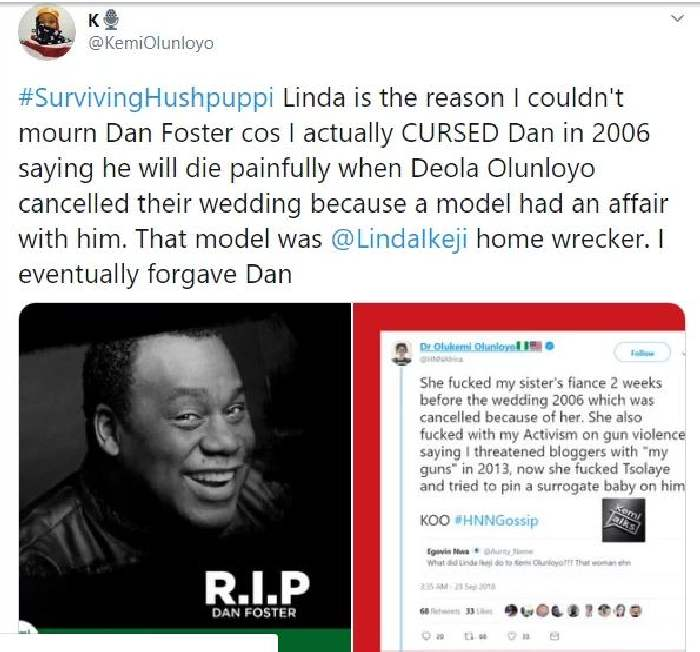 """""""I Cursed Dan Foster In 2006 He Was Going To Die Painfully""""- Kemi Olunloyo Makes Confession"""