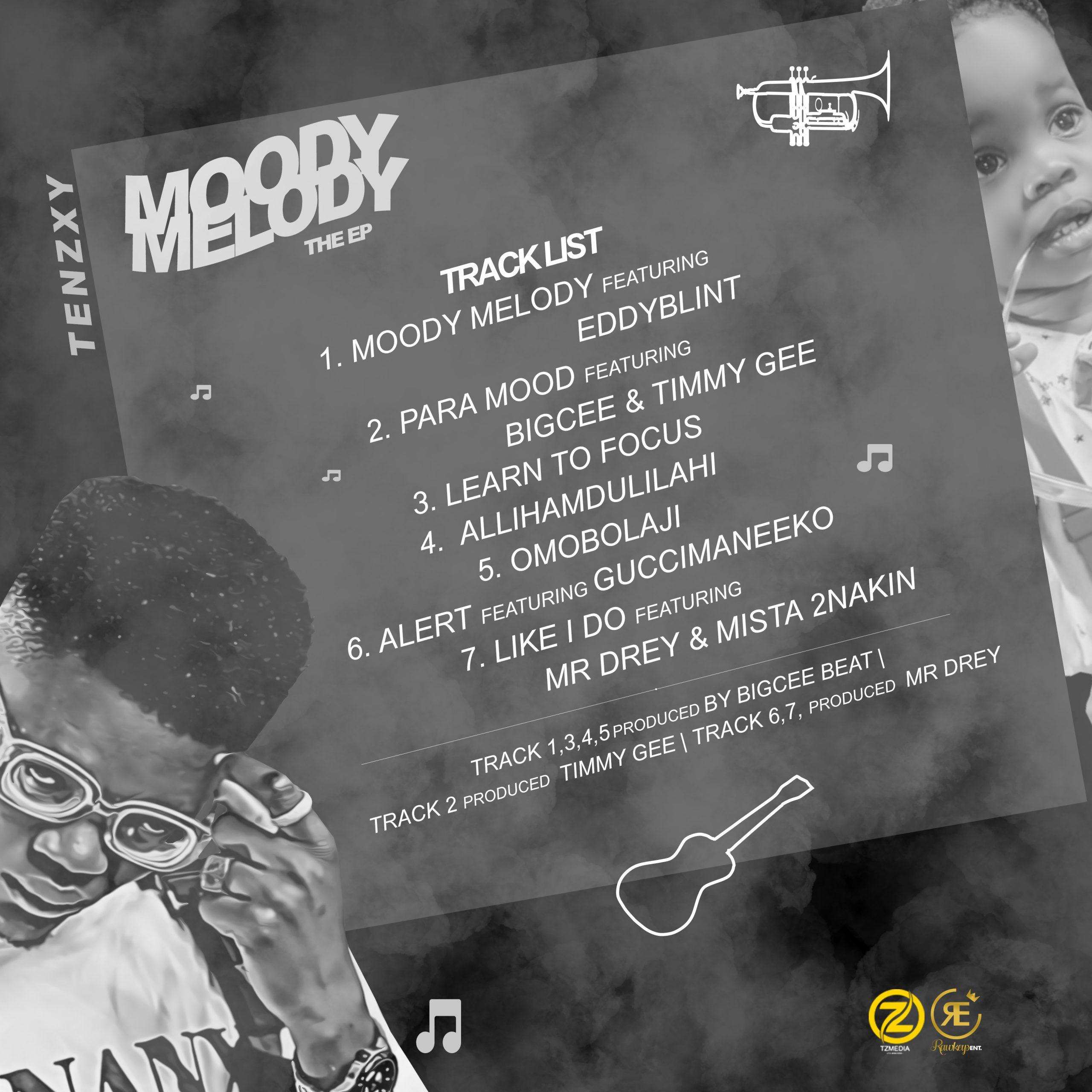 (EP ALBUM) Tenzxy_ Moody Melody